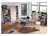 moebel-eins Elektrisch höhenverstellbarer Schreibtisch Office One mit Memory-Steuerung und Softstart/-Stop, Material Tischplatte Dekorspanplatte, 180×80 cm, ahornfarbig, grau - 9