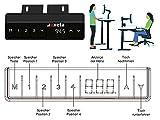 Exeta ergoEASY Elektrisch höhenverstellbarer Schreibtisch (Vers. 2020), 2-fach-Teleskop,Memory-Funkt. und Softstart/-Stopp, elektrisch höhenverstellbares Tischgestell schwarz –für gängige Tischplatten - 2