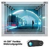 Mini Beamer ELEPHAS, Nativ 720P HD 4500 Lumen Projektor 200″ LED Projektor, für Film Unterhaltung Spiele, unterstützt HDMI VGA AV USB Micro SD, Schwarz. MEHRWEG - 5