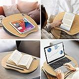 HUANUO Laptopkissen für Bett mit Kabelloch & Anti-Rutsch Streifen für max. 15,6 Zoll Notebook, Macbook, Tablet - 5