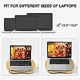 HUANUO Laptopkissen für Bett mit Kabelloch & Anti-Rutsch Streifen für max. 15,6 Zoll Notebook, Macbook, Tablet - 2