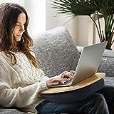 HUANUO Laptopkissen für Bett mit Kabelloch & Anti-Rutsch Streifen für max. 15,6 Zoll Notebook, Macbook, Tablet - 9