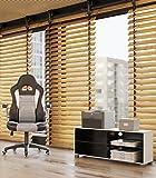 SONGMICS Bürostuhl Chefsessel Drehstuhl Computerstuhl Höhenverstellung office Stuhl Polsterung wegklappbare Armlehne OBG28G - 8