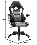 SONGMICS Bürostuhl Chefsessel Drehstuhl Computerstuhl Höhenverstellung office Stuhl Polsterung wegklappbare Armlehne OBG28G - 11