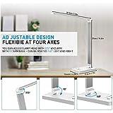 Schreibtischlampe, LED Schreibtischlampe Dimmbar Mit USB, Schwenkbar LED Tischlampe Bürolampe, 5 Farbtemperaturen, Tischleuchte für Büro und Haus – Weiß - 6