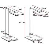FeinTech LTL00100 LED Schreibtisch-Lampe Lichtfarbe warmweiß bis kaltweiß dimmbar 550 lm weiß - 8