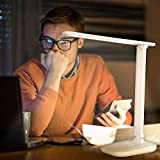 LED Schreibtischlampe, Dimmbare Schreibtischlampen mit USB-Ladeanschluss, Augenschutz Tischleuchte,Touchfeldbedienung Büro Tischleuchte, Energieeffiziente Leselicht - 7