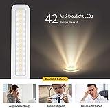 TOPELEK Schreibtischlampe 42 LED Tischlampe, 3 Farb-und 3 Helligkeitsstufen, Tischleuchte mit Touch Control-Taste, Farbtemperatur Speicherfunktion für Büro, Lesen, Studieren, Weiß - 6