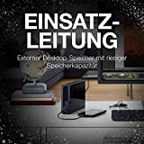 Seagate Backup Plus HUB, 6 TB, externe Festplatte mit 2-fach USB Hub, 3.5 Zoll, USB 3.0, PC & Mac, ModelNr.: STEL6000200 - 6