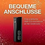 Seagate Backup Plus HUB, 6 TB, externe Festplatte mit 2-fach USB Hub, 3.5 Zoll, USB 3.0, PC & Mac, ModelNr.: STEL6000200 - 5