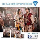 [WiFi Beamer] Jinhoo 4500 Lumens Wireless Beamer Unterstützt 1080P Full HD, Native 720P HD Mini WiFi Projektor Beamer Kompatibel mit Smartphone Tablet TV Stick Spielekonsole HDMI VGA USB TF, Weiß. - 8