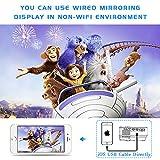 [WiFi Beamer] Jinhoo 4500 Lumens Wireless Beamer Unterstützt 1080P Full HD, Native 720P HD Mini WiFi Projektor Beamer Kompatibel mit Smartphone Tablet TV Stick Spielekonsole HDMI VGA USB TF, Weiß. - 7