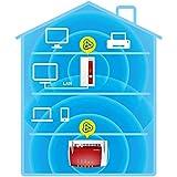 AVM FRITZ!WLAN Mesh Repeater 1750E (Dual-WLAN AC + N bis zu 1.300 MBit/s (5 GHz) + 450MBit/s (2,4 GHz), deutschsprachige Version) rot/weiß - 4