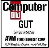 AVM FRITZ!WLAN Mesh Repeater 1200 (Zwei Funkeinheiten: 5 GHz (bis zu 866 MBit/s), 2,4 GHz (bis zu 400 MBit/s), 1x Gigabit-LAN, deutschsprachige Version) - 8