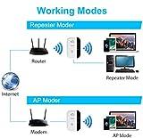 Aigital WLAN Repeater, WLAN Verstärker, WiFi Repeater Booster Signalverstärker mit LAN-Port und WPS Funktiom unterstützt AP/Repeater Modus kompatibel zu Allen WLAN Geräten 2.4GHz IEEE 802.11B/G/N - 3