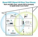 Aigital WLAN Repeater, WLAN Verstärker, WiFi Repeater Booster Signalverstärker mit LAN-Port und WPS Funktiom unterstützt AP/Repeater Modus kompatibel zu Allen WLAN Geräten 2.4GHz IEEE 802.11B/G/N - 6