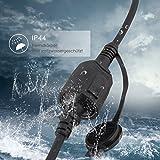 SIMBR Schuko Verlängerungskabel Gummi Kabel für den Außenbereich IP44 H07RN-F 3G 1,5mm (20m) - 3