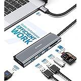 USB C Adapter 4K HDMI Hub 7 Ports mit 3x USB 3.0 Ports, SD / TF Kartenleser, 4K@30Hz HDMI für MacBook Pro / Air, Chromebook und weitere Typ C Geräte, VAKO - 6