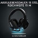 Logitech G533 Wireless Gaming-Headset, 7.1 Surround Sound, DTS Headphone:X 3D, 40mm Pro-G Treiber, 2.4 GHz Verbindung via USB-Empfänger, Noise-Cancelling Mikrofon, 15-Stunden Akkulaufzeit, PC/Mac - 5