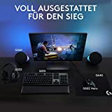 Logitech G533 Wireless Gaming-Headset, 7.1 Surround Sound, DTS Headphone:X 3D, 40mm Pro-G Treiber, 2.4 GHz Verbindung via USB-Empfänger, Noise-Cancelling Mikrofon, 15-Stunden Akkulaufzeit, PC/Mac - 6
