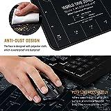 JIALONG Gaming Mauspad XXL Gross 900x400x3mm Schreibtischunterlage Abwischbar Anti Rutsch Matte Multifunktionales Office Mousepad Schwarz Weltkarte - 4