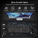 JIALONG Gaming Mauspad XXL Gross 900x400x3mm Schreibtischunterlage Abwischbar Anti Rutsch Matte Multifunktionales Office Mousepad Schwarz Weltkarte - 8