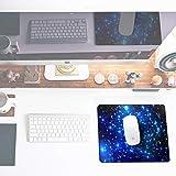 Sidorenko Gaming Mauspad | Mousepad | spezielle Oberfläche verbessert Geschwindigkeit und Präzision | Fransenfreie Ränder | rutschfest | Blau - 2