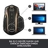 Logitech MX Master Kabellose Maus Amz, Bluetooth/2.4 GHz Verbindung via Unifying USB-Empfänger, 1000 DPI Sensor, Wiederaufladbarer Akku, Multi-Device, Für alle Oberflächen, 5 Tasten, PC/Mac – schwarz - 2