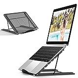 Enllonish Laptop Ständer, Multi-Winkel Verstellbar, Höhe Einstellbar, Faltbar rostfreier Stahl Tablet Halterung Stand Halter für 10-15 Zoll Notebook/iPad Air/Mini/MacBook
