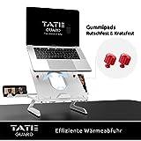 TATE GUARD Laptopständer Erhöhung für den Tisch höhenverstellbar tragbar leicht integrierte Handyständer Notebook Tablet-Halter Schreibtisch Tablett Halterung belüftete, ergonomische Höhe - 2