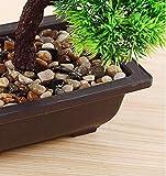 japanische deko Künstliche Bonsai Baum Pflanze für Dekoration Wohnung Schlafzimmer Hochzeit Einschulung Geburtstag, 40cm (Grün), Green - 3