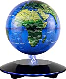JOWHOL Magnet Globus,Magnetic Floating Globe,Magnetische Kugeln Globen 360°Rotierende Erde Globus Kugel Con World Karte Büro Dekoration Geburtstag Geschenke