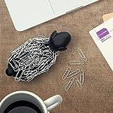 Sheepi - Das magnetische Büroklammerspender Schaf - schwarz mit weißen Büroklammern - Der tierische Büroklammerhalter für jeden Schreibtisch - 5