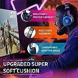 Pacrate PC Gaming Headset für PS4 Xbox One PC, Rauschunterdrückung Over-Ear LED PS4 Headset – Kristall Stereo-Klang Gamer Kopfhörer PS4 mit Sensiblen Mikrofon & Intensiven Bässen für Laptop Mac - 7