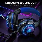 Pacrate PC Gaming Headset für PS4 Xbox One PC, Rauschunterdrückung Over-Ear LED PS4 Headset – Kristall Stereo-Klang Gamer Kopfhörer PS4 mit Sensiblen Mikrofon & Intensiven Bässen für Laptop Mac - 2