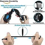 Beexcellent Gaming Headset für PS4 PC Xbox One, LED Licht Crystal Clarity Sound Professional Kopfhörer mit Mikrofon für Laptop Mac Handy Tablet Blau - 7