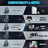 Beexcellent Gaming Headset für PS4 PC Xbox One, LED Licht Crystal Clarity Sound Professional Kopfhörer mit Mikrofon für Laptop Mac Handy Tablet Blau - 5