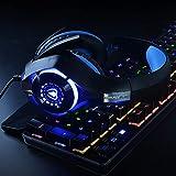 Beexcellent Gaming Headset für PS4 PC Xbox One, LED Licht Crystal Clarity Sound Professional Kopfhörer mit Mikrofon für Laptop Mac Handy Tablet Blau - 6