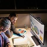 BenQ ScreenBar LED-Monitor-Lampe Schreibtischlampe bildschirmlampe mit Auto-Dimmen und Farbton-Anpassungsfunktionen, Augenpflege, Kein Bildschirm Blendung oder Flimmern, USB aufladen Büro Lampe - 8
