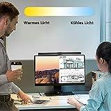 Anpro E-Reading 84 LEDs Mit Einstellbarer Helligkeit und Farbton Funktion, USB LED Lampe Augenpflege, Schwarz - 7