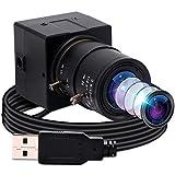 ELP USB8MP02G-SFV - 8 Megapixel, Unterstützt Windows/Linux/Android/Raspberry Pim Manueller Zoom, IMX179 Sensor, HD USB-Webcam 2.8-12mm Variable Fokus Manuell Objektiv