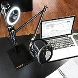 Marantz Professional Turret – Komplettes USB-C Broadcast Video System mit Full HD Webcam, USB-Kondensatormikrofon mit Pop-Filter, dimmbarem LED-Lichtring und internem USB-Hub - 4