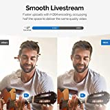 Vitade 960A Pro – 1080p Full HD Webcam mit Mikrofon und Ringlicht, USB Kamera Facecam für Streaming Video Chat Aufnahme, Mac Windows Laptop Konferenz Spiele Skype OBS Twitch YouTube Xsplit - 3