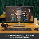 Logitech Brio Stream Webcam, 4K Ultra-HD 1080p, Weites anpassbares Blickfeld, USB-Anschluss, Abdeckblende, Abnehmbarer Clip, Für Skype, Zoom, Xsplit, Youtube, PC – Schwarz, Streaming Edition - 6