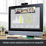 Logitech Brio Stream Webcam, 4K Ultra-HD 1080p, Weites anpassbares Blickfeld, USB-Anschluss, Abdeckblende, Abnehmbarer Clip, Für Skype, Zoom, Xsplit, Youtube, PC – Schwarz, Streaming Edition - 5